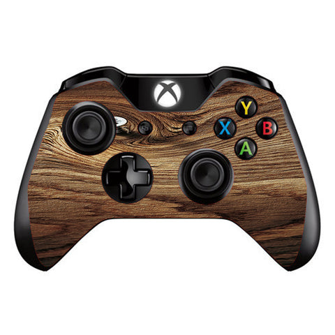 Dark Wood Knot Screw In Walnut Microsoft Xbox One Controller Skin