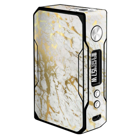 Marble White Gold Flake Granite  Voopoo Drag 157w Skin