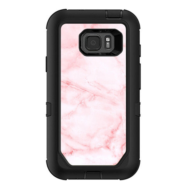 buy popular d4299 e6320 Rose Pink Marble Pattern Otterbox Defender Samsung Galaxy S7 Active Skin