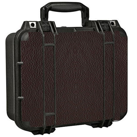 Brown Leather Design Pattern Pelican Case 1400 Skin