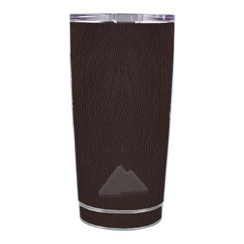 Skin Decal For Ozark Trail 20 Oz Brown Leather Design Pattern Ozark Trail 20oz Tumbler Skin