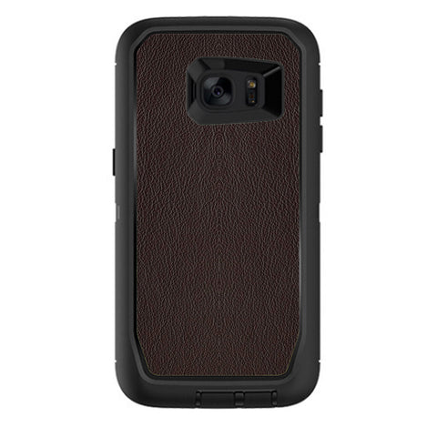 Brown Leather Design Pattern Otterbox Defender Samsung Galaxy S7 Edge Skin