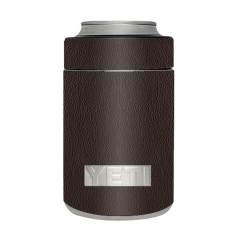 Brown Leather Design Pattern Yeti Rambler Colster Skin