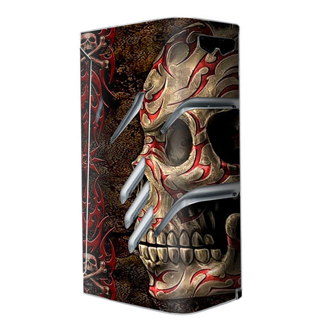 Wicked Evil Tribal Skull Tattoo Smok T-Priv Skin