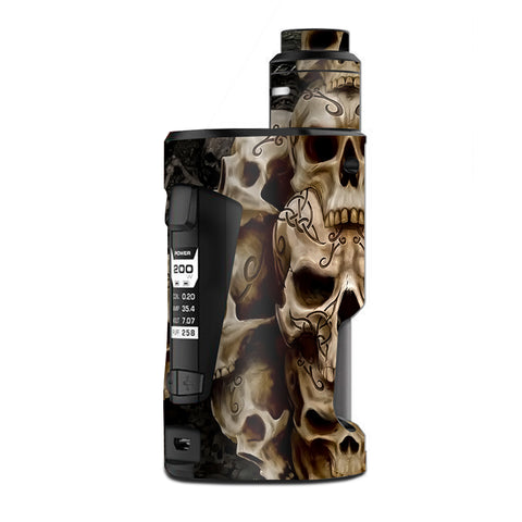 Wicked Skulls Tattooed  G Box Squonk Geek Vape Skin