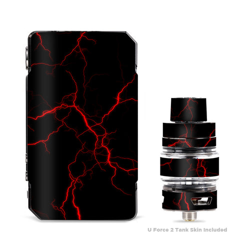 Red Lightning Bolts Electric VooPoo Drag Mini Skin