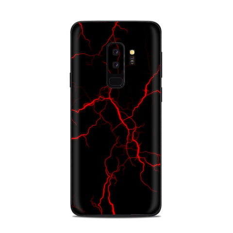 Red Lightning Bolts Electric Samsung Galaxy S9 Plus Skin