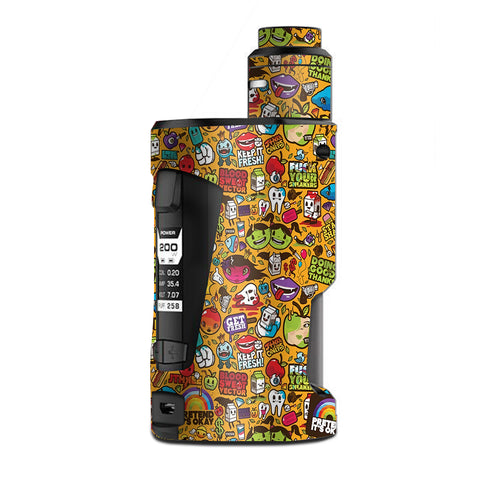 Comic Sticker Slap Cartoon G Box Squonk Geek Vape Skin
