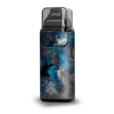 Blue Grey Painted Clouds Watercolor Aspire Breeze 2 Skin