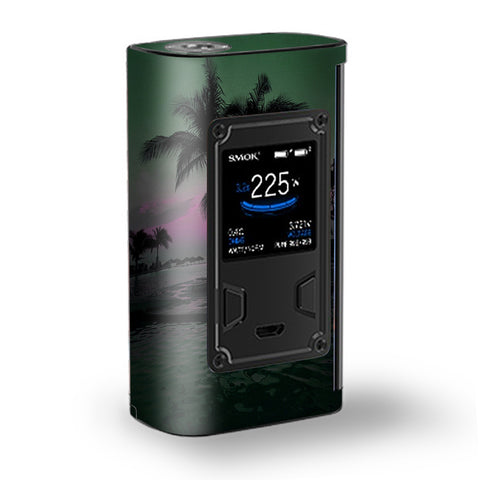 Sunset Tropical Paradise Poolside Majesty Smok Skin