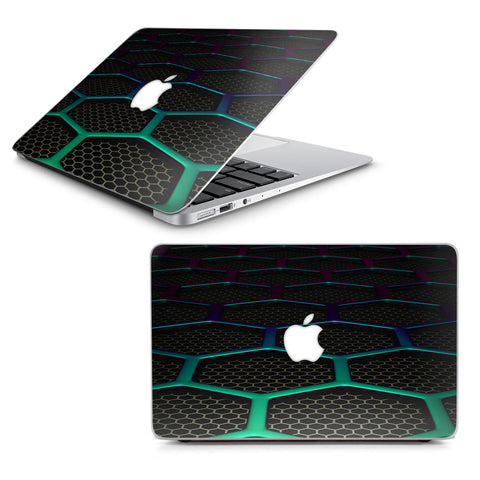 "Metal Grid Futuristic Panel Macbook Air 13"" A1369 A1466 Skin"
