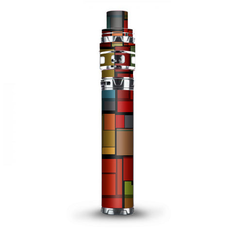 Abstract Colorful Square Pattern Stick Prince TFV12 Smok Skin