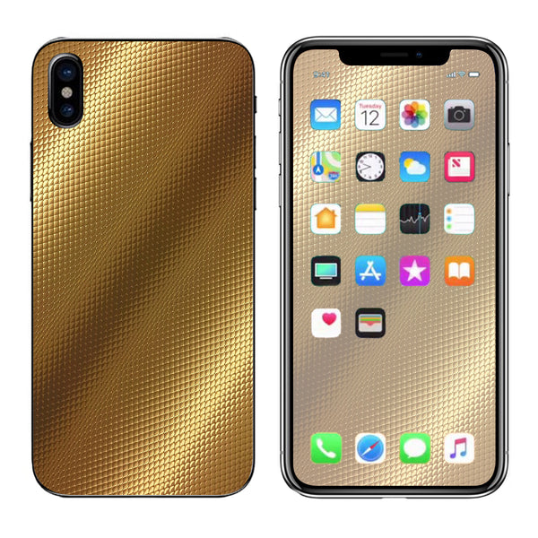 reputable site d27e5 70285 Gold Pattern Shiney Apple iPhone X Skin