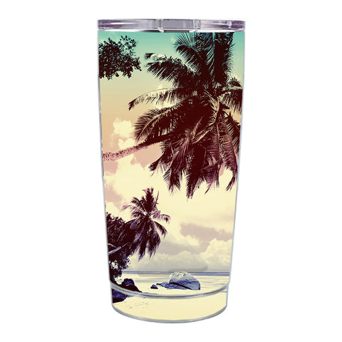 Skin Decal For Ozark Trail 20 Oz Palm Trees Vintage Beach Island Ozark Trail 20oz Tumbler Skin