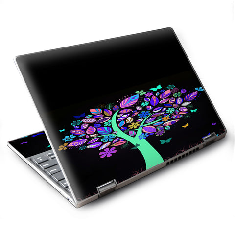 "Living Tree Butterfly Colorful Lenovo Yoga 710 11.6"" Skin"