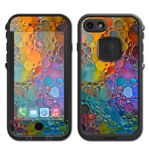 Color Bubbles Splash Drip Lifeproof Fre iPhone 7 or iPhone 8 Skin