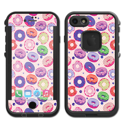 Yummy Donuts Doughnuts Pink Lifeproof Fre iPhone 7 or iPhone 8 Skin