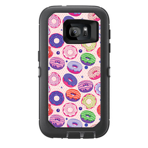 Yummy Donuts Doughnuts Pink Otterbox Defender Samsung Galaxy S7 Skin