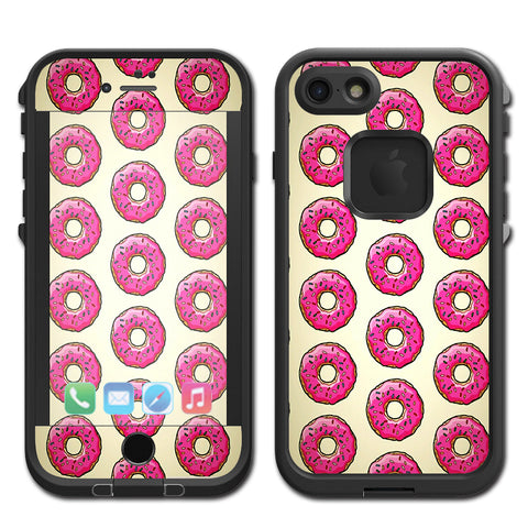 Pink Sprinkles Donuts Lifeproof Fre iPhone 7 or iPhone 8 Skin