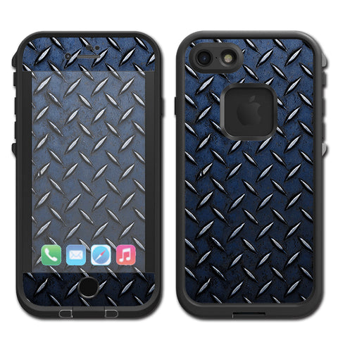 Diamond Plate Aged Steel Lifeproof Fre iPhone 7 or iPhone 8 Skin