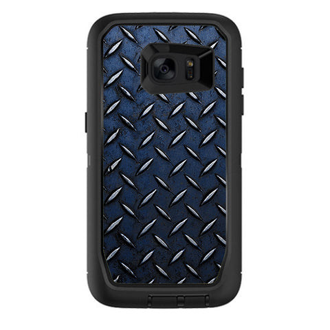 Diamond Plate Aged Steel Otterbox Defender Samsung Galaxy S7 Edge Skin