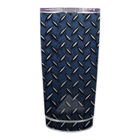 Skin Decal For Ozark Trail 20 Oz Diamond Plate Aged Steel Ozark Trail 20oz Tumbler Skin