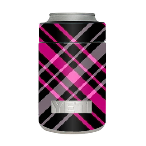 Pink And Black Plaid Yeti Rambler Colster Skin