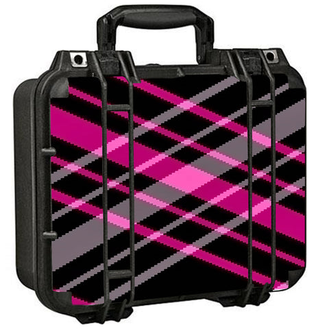 Pink And Black Plaid Pelican Case 1400 Skin