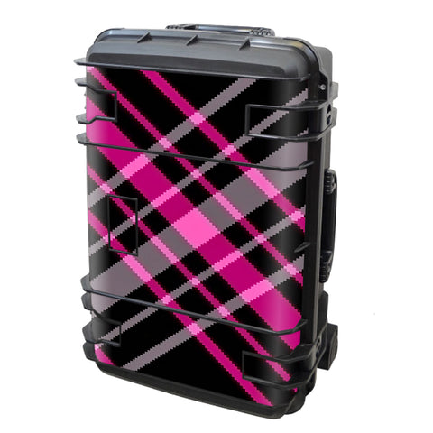 Pink And Black Plaid Seahorse Case Se-920 Skin