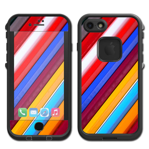 Color Stripes Pattern Lifeproof Fre iPhone 7 or iPhone 8 Skin