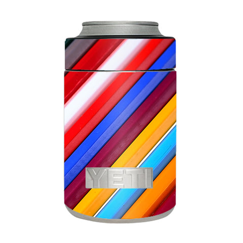 Color Stripes Pattern Yeti Rambler Colster Skin