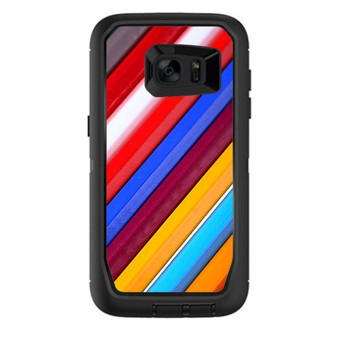 Color Stripes Pattern Otterbox Defender Samsung Galaxy S7 Edge Skin