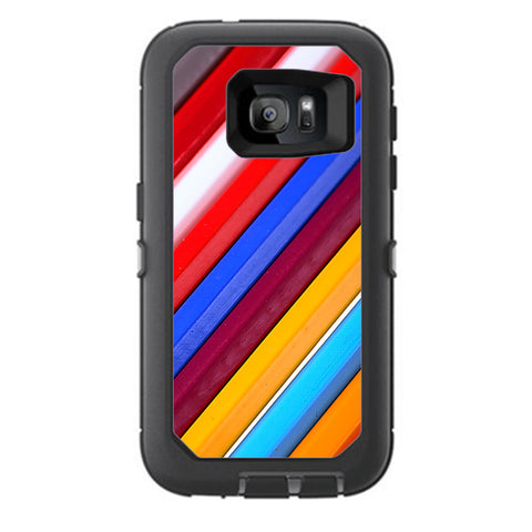 Color Stripes Pattern Otterbox Defender Samsung Galaxy S7 Skin