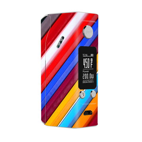 Color Stripes Pattern Wismec Reuleaux RX200S Skin