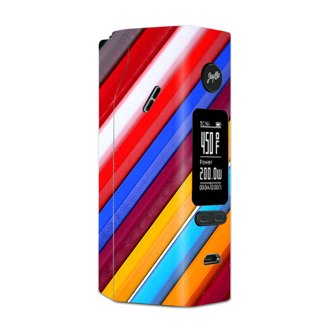 Color Stripes Pattern Wismec Reuleaux RX 2/3 combo kit Skin
