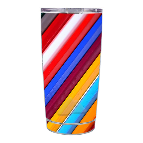 Skin Decal For Ozark Trail 20 Oz Color Stripes Pattern Ozark Trail 20oz Tumbler Skin