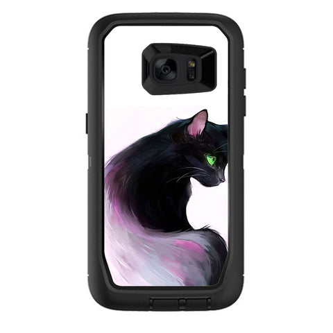 Siamese Cat Green Eyes Otterbox Defender Samsung Galaxy S7 Edge Skin