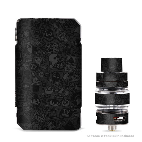 Black Sticker Slap Design VooPoo Drag Mini Skin