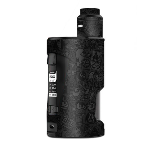 Black Sticker Slap Design G Box Squonk Geek Vape Skin