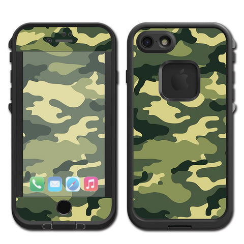 Green Camo Original Camouflage Lifeproof Fre iPhone 7 or iPhone 8 Skin