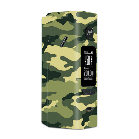 Green Camo Original Camouflage Wismec Reuleaux RX 2/3 combo kit Skin