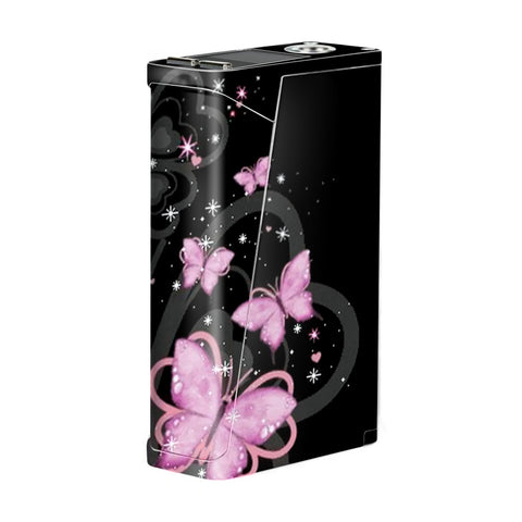 Pink Majestic Butterflies Hearts Smok H-Priv Skin
