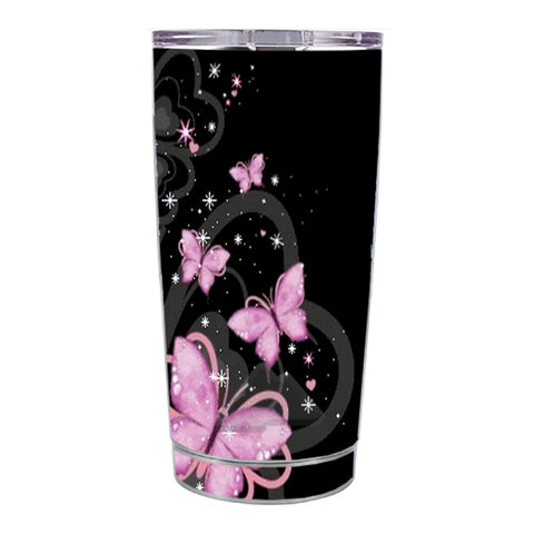 Skin Decal For Ozark Trail 20 Oz Pink Majestic Butterflies Hearts Ozark Trail 20oz Tumbler Skin