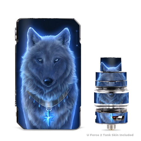 Glowing Celestial Wolf VooPoo Drag Mini Skin