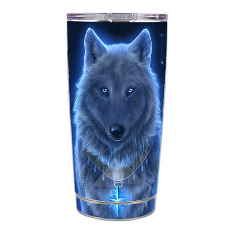 Skin Decal For Ozark Trail 20 Oz Glowing Celestial Wolf Ozark Trail 20oz Tumbler Skin