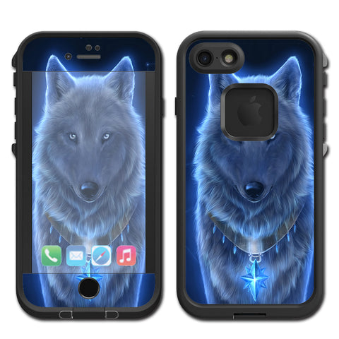 Glowing Celestial Wolf Lifeproof Fre iPhone 7 or iPhone 8 Skin