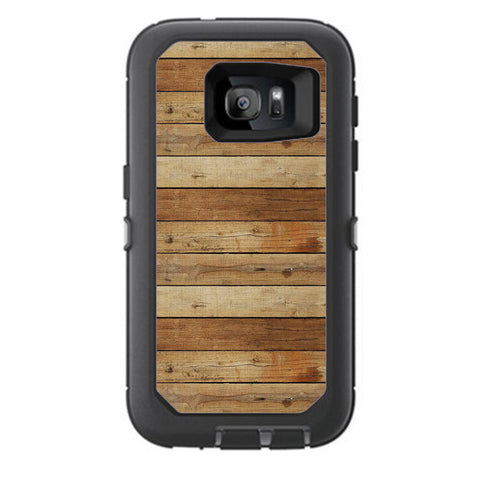 Wood Panels Plank Otterbox Defender Samsung Galaxy S7 Skin