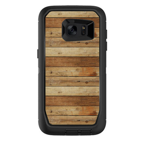 Wood Panels Plank Otterbox Defender Samsung Galaxy S7 Edge Skin