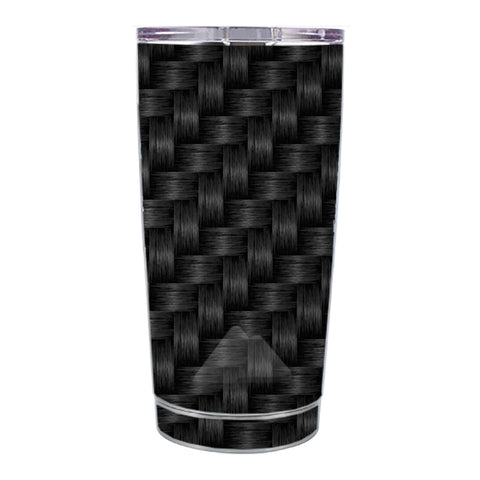 Skin Decal For Ozark Trail 20 Oz Black Grey Carbon Fiber Weave Ozark Trail 20oz Tumbler Skin