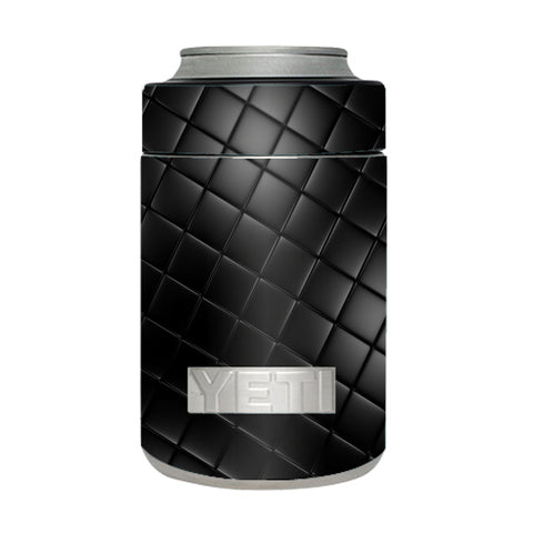 Black Leather Chesterfield Yeti Rambler Colster Skin